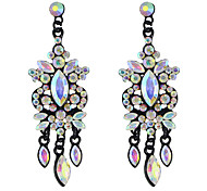 Colorful Rhinestone Flower Chandelier Wedding Earrings