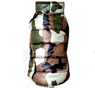 Dog Coat / Vest Red / Yellow / Green / Blue Dog Clothes Winter Camouflage Fashion / Keep Warm