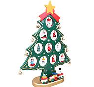 árvore de natal natal tabela 1pc presente árvores de natal decoração em madeira com o ornamento para