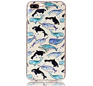 Dolphin Pattern HD Painted TPU Material Phone Shell For iPhone 7 7 Plus 6s 6 Plus