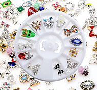 High Quality Random Mixed Models With Drill Manicure Alloy Jewelry 12 Mix Boxed