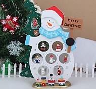 рождество подарок украшение стола дерево снеговик с орнаментом для X'mas меблировки Рождественский снеговик статьи
