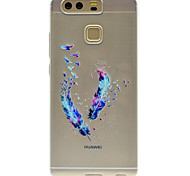 Feather Pattern High Permeability TPU Material Phone case forHuawei P9 Lite P9 P9 Plus  P8 Lite Honor V8  Honor 8