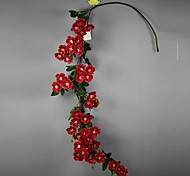 Set of 1 PCS 1 Branch Polyester Roses  Flower Artificial Flowers Rattan Long 54(inch)