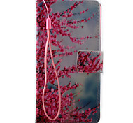 Para sony xperia x xa capa capa pêssego padrão pintura pu material de couro cartão stent para xp xz
