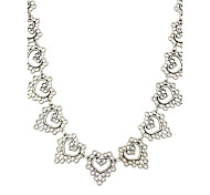 Silver Color Metal Heart Collar Necklace for Women