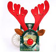 adornos de navidad diadema de Navidad con nariz de payaso