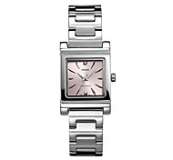 Women's Fashion Watch Quartz Water Resistant/Water Proof Stainless Steel Band Casual Silver Brand