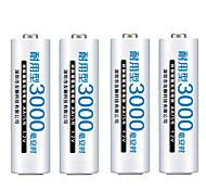 FULANKA AA Rechargeable Battery AA NiMH 1.2V 3000mAh Ni-MH 2A Pre-charged Bateria Rechargeable Batteries for Camera