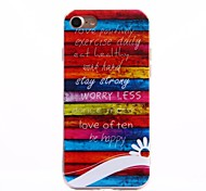 Para Funda iPhone 7 / Funda iPhone 7 Plus IMD Funda Cubierta Trasera Funda Palabra / Frase Suave TPU Apple iPhone 7 Plus / iPhone 7