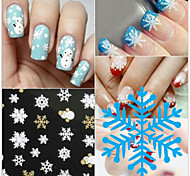 1 Sheet Beauty NailArt Christmas Snowflake Nail Stickers For Nails Water Transfer Decals Sticker Manicure