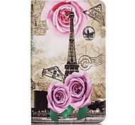 Per A portafoglio / Porta-carte di credito Custodia Integrale Custodia Torre Eiffel Resistente Similpelle Samsung Tab A 7.0