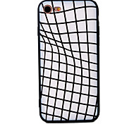 Case for iPhone 7 7plus 6S 6plus Space Distortion Pattern Acrylic Soft Edge TPU Material