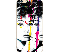 For iPhone 7 Case / iPhone 6 Case / iPhone 5 Case Ultra-thin / Pattern Case Back Cover Case Sexy Lady Soft TPU AppleiPhone 7 Plus /