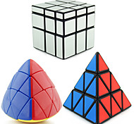 Shengshou® Smooth Speed Cube Alien Mirror / Professional Level Stress Relievers / Magic Cube Silver / Gold Smooth Sticker /Anti-pop /