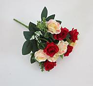 Set of 1 PCS 1 Ast Polyester Rosen Tisch-Blumen Künstliche Blumen Long 10.3(inch)