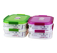 Kitchen Food Grade 2 Compartment Food Container Set (1.75L*2P)