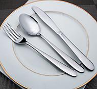 Edelstahl 304 Dinner Gabel / Dinner Messer Löffel / Gabeln / Messer 3 Stück