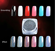 2G/PCS  Nail Art Decoration Very Delicate Laser Powder 7 Colour Highlights Security Environmental Protection
