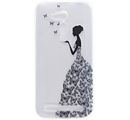 Little Girl Pattern High Permeability TPU Material Phone Shell For ASUS ZB551KL ZB452KG