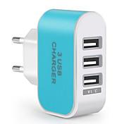 Быстрая зарядка / Мульти порты Портативное зарядное устройство Стандарт Австралии 3 порта USB зарядное устройство толькоДля мобильного