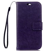 For HTC Case Wallet / Card Holder / with Stand Case Full Body Case Solid Color Hard PU Leather HTC HTC One M8