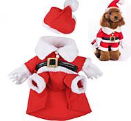 Собака Костюмы Одежда для собак Очаровательный Косплей Рождество Носки детские Красный