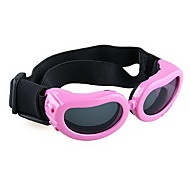 Pink Frame Pet Puppy Dog Eye UV Protection Goggles Sunglasses Eyewear S