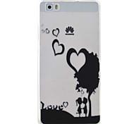 casal padrão caso material de proteção TPU telefone para Huawei Huawei y5 honra ii 5a y6 ii p9 Lite p8 Lite