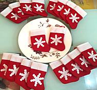 12 Pieces/Set Mini Christmas Stockings Christmas Decoration Supplies Decorations Festival Party Ornament
