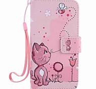 Для samsung galaxy a5 (2016) a3 (2016) case cover кошки и пчелы покраска pu phone case