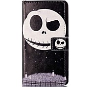 For Sony XP M4 Case Cover Star Ghosts Pattern Painting Card Stent PU Leather Phone Case