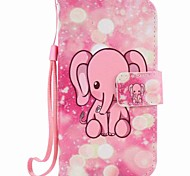 For Samsung Galaxy S7 edge S7 S6 edge S6 Case Cover with Stylus Pink Elephant Painting PU Phone Case S5 S4 S3