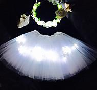белый ангел водить загореться Туту&оголовье набор для kidsgirlsadultshalloween coustumechristmas giftrave Пачка setcoachella