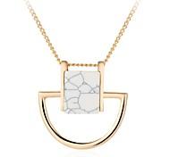 Women's Fashion Luxury European Gem Stone Pendant Necklace for Women