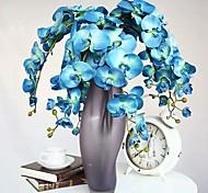 """1 Branch 1 Rama Seda / Toque real Orquídea Flor de Mesa Flores Artificiales Total Length:38"""""""