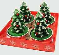 Vela de Natal bonito árvore de natal 4 pçs