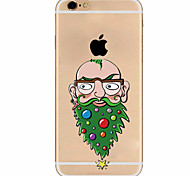 Para Funda iPhone 7 / Funda iPhone 6 / Funda iPhone 5 Ultrafina / Diseños Funda Cubierta Trasera Funda Navidad Suave TPU AppleiPhone 7
