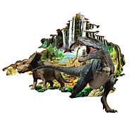 Animals Dinosaur Wall Stickers 3D Landscape Decals Home Decor