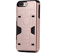 Para Funda iPhone 7 / Funda iPhone 7 Plus Soporte de Coche Funda Cubierta Trasera Funda Armadura Dura Policarbonato para AppleiPhone 7