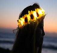 Sunflower Led Light Up Flower CrownFloral HeadbandLight Up Flower CrownHeadband Coachella  Halloween