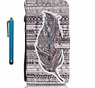 For Samsung Galaxy S7 edge S7  Case Cover with Stylus Tribal Feathers 3D Painting PU Phone Case S6 edge S6 S5 S4