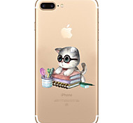 For iPhone 7 Case iPhone 7 Plus Case Transparent Pattern Case Dr. cat Soft TPU