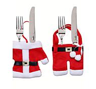 noël décorations de table couteau et fourchette sac coutellerie noël fixer de petits vêtements de cadeaux dekoration weihnachten