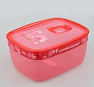 contenedor de almacenamiento de alimentos para microondas hermético con tapa 1.7l