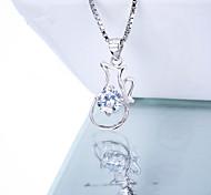 Women's Jewelry S925 Silver Zircon Charm Kettle-shaped Pendant for Women