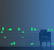 15pcs / set palillo de la fluorescencia vinilos decorativos luminosos navidad agujero del ratón 2 * 19cm