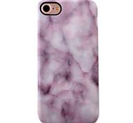 For iPhone 7 Case / iPhone 7 Plus Case / iPhone 6 Case Shockproof / IMD Case Back Cover Case Marble Soft TPU AppleiPhone 7 Plus / iPhone