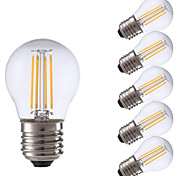 3.5W E27 LED Filament Bulbs P45 4 COB 350/400 lm Warm White / Cool White AC 220-240 V 6 pcs