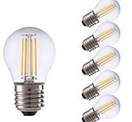 3.5 E26/E27 Lampadine LED a incandescenza P45 4 COB 350/400 lm Bianco caldo / Luce fredda AC 220-240 V 6 pezzi